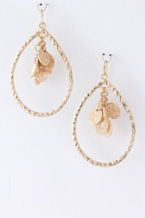 Feminine and light clustered gold hoops!  We Love! On the Deal of the Day at kris today! https://www.krisandkate.com/dealoftheday.html $18