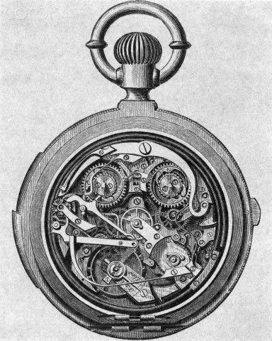 drawing of swiss pocket watch gears dl1 project 2