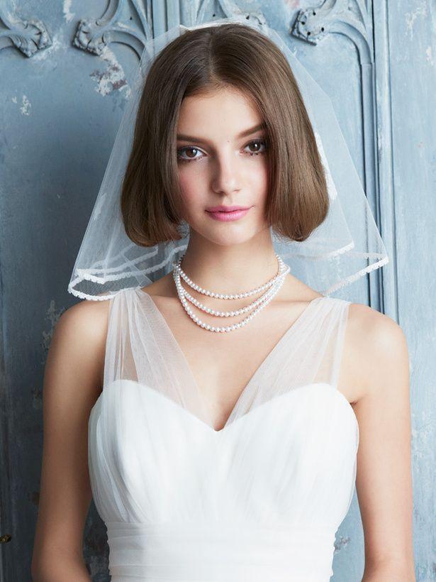 伸ばさなくても大丈夫 ショート ボブの花嫁さんにおすすめの髪型