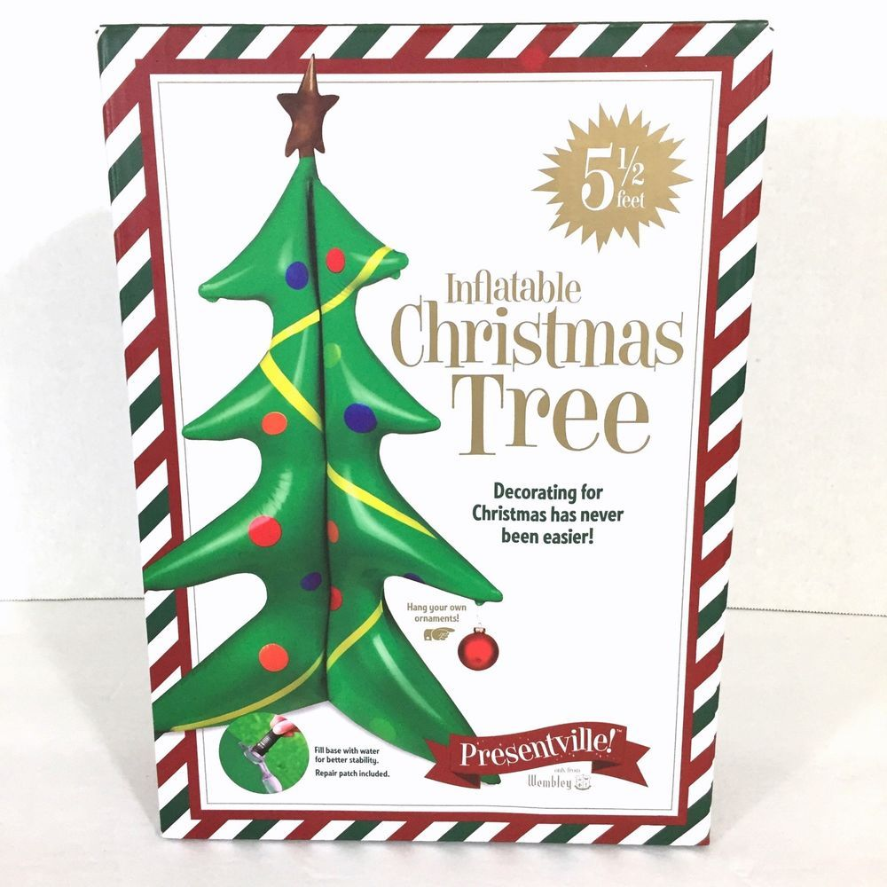 Inflatable Christmas Tree Stands 5.5 Feet Wembley Easy Decorating ...