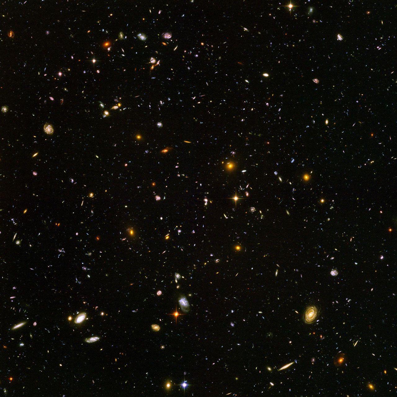 Over 5,000 galaxies in one photo, some so distant you're seeing them when the…