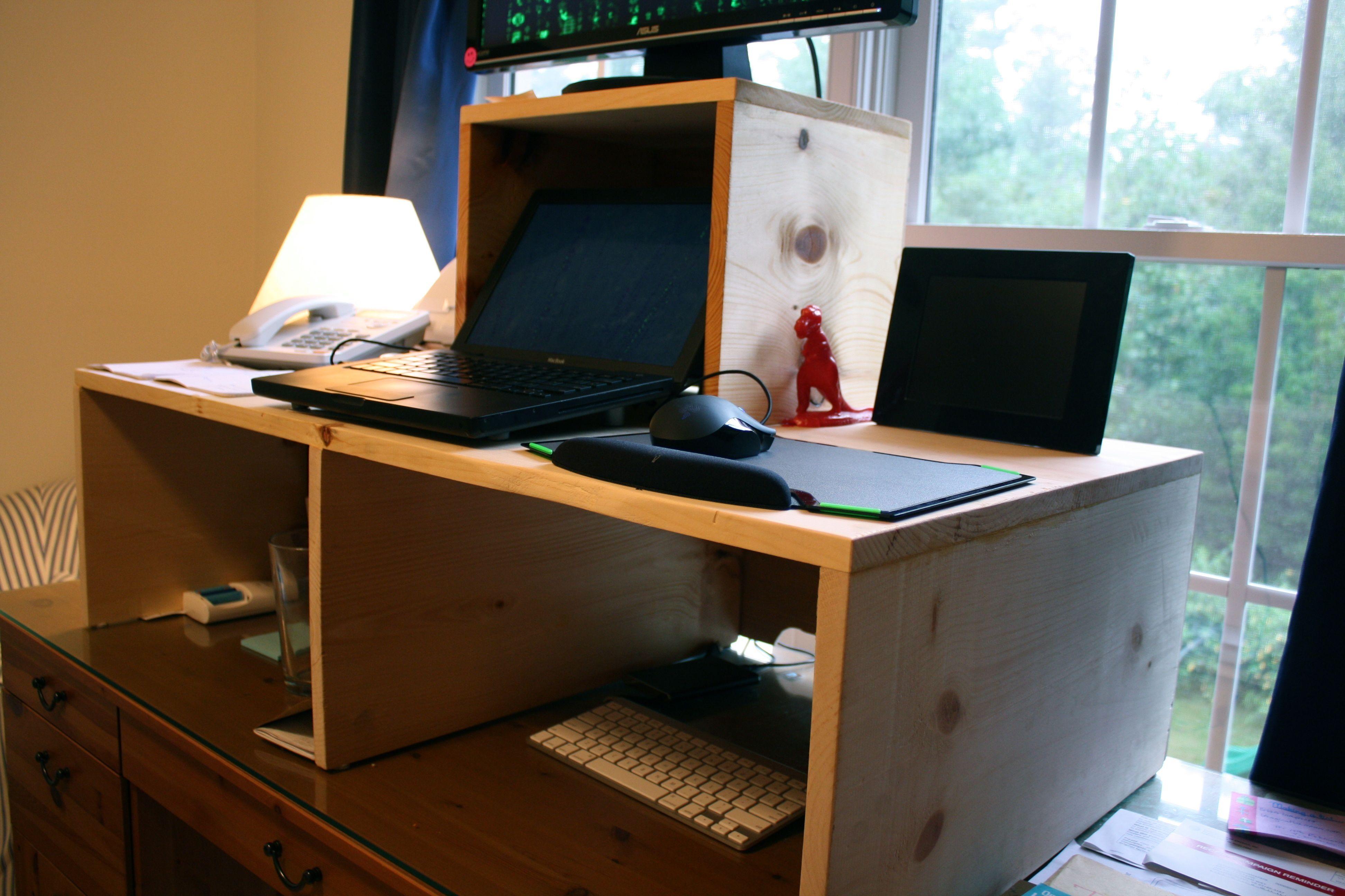 standing desk on top of regular desk Standing Desk To Put On Top Of Regular Desk | http://i12manage. standing desk on top of regular desk