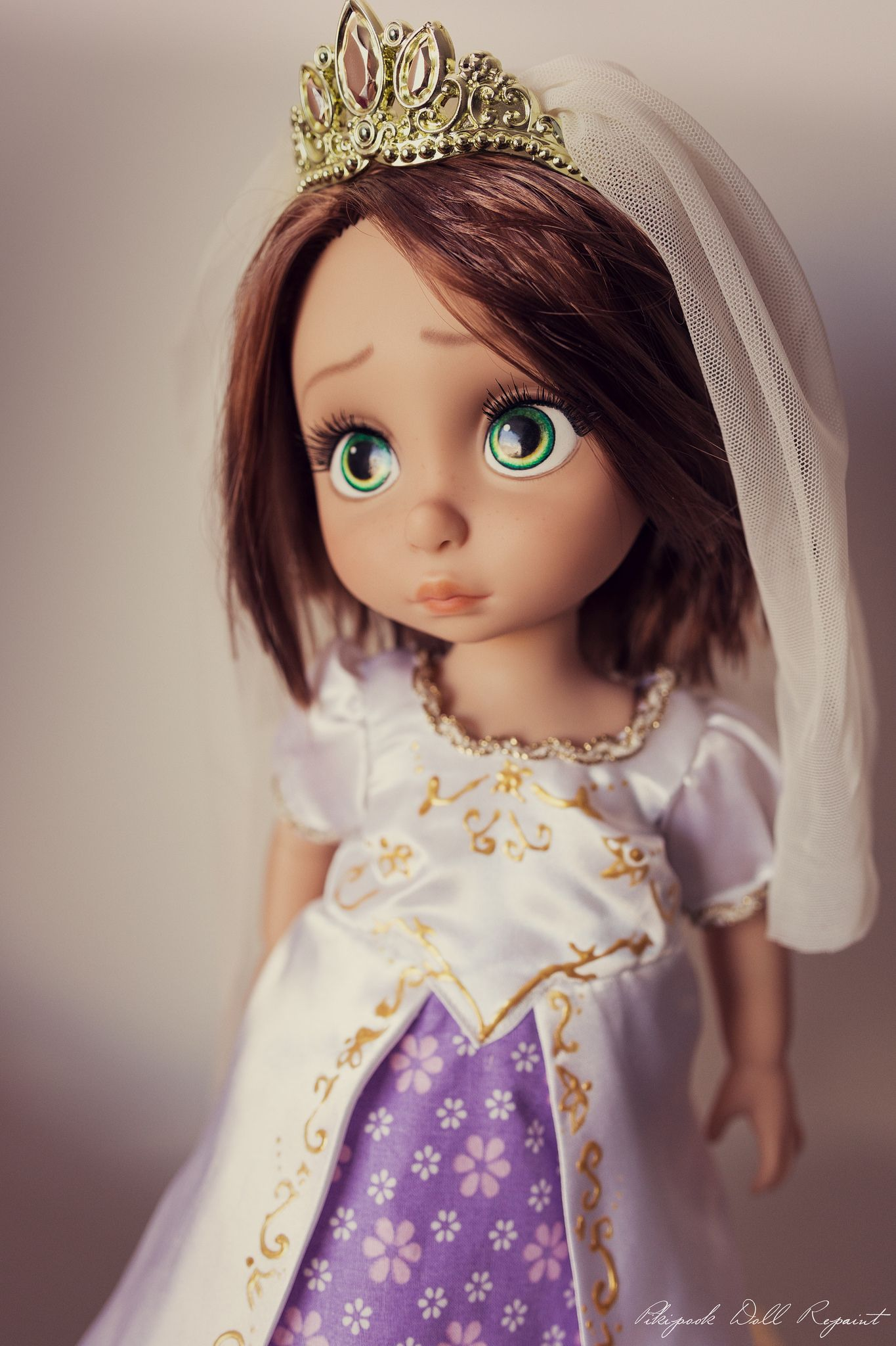 rapunzel animator disney doll wedding ooak repaint tangled ever after limited edition le mariage. Black Bedroom Furniture Sets. Home Design Ideas