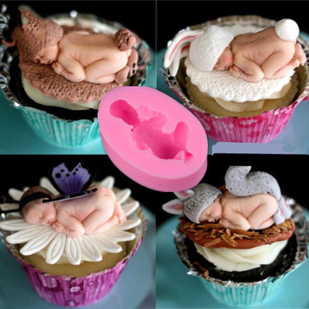 Silicone Sleeping Baby Shape Cake Mould Fondant Sugar Candy Mold Baking Decor Unbranded Kage Baby Kage