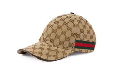 8754e4557231e Shop the Original GG canvas baseball hat with Web by Gucci. A classic  baseball cap shape in Original GG canvas with Web detail. The Web was first  developed ...