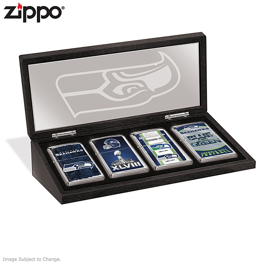 Green Bay Packers Zippo Lighter Collection And Case Zippo Custom Display Case Seahawks