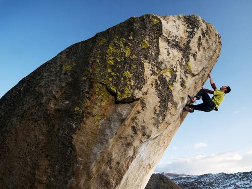 climberclimbing:  Bishop, California  Photograph by Getty Images