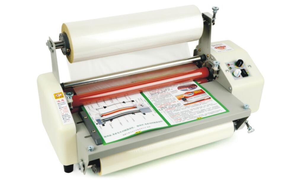 Update A3 Four Rollers Hot And Cold Roll Laminator Laminating Machine 335mm 220v Laminators Sticker Printer Vinyl Cutter Machine