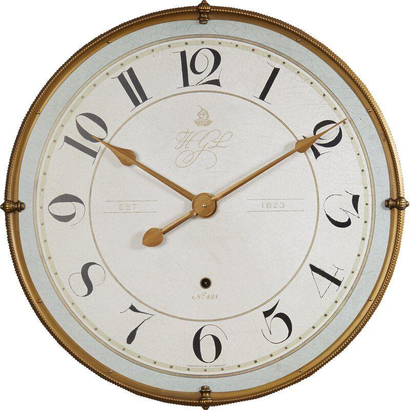 Adette 31 5 Wall Clock Reviews Joss Main Gold Wall Clock Wall Clock Round Wall Clocks