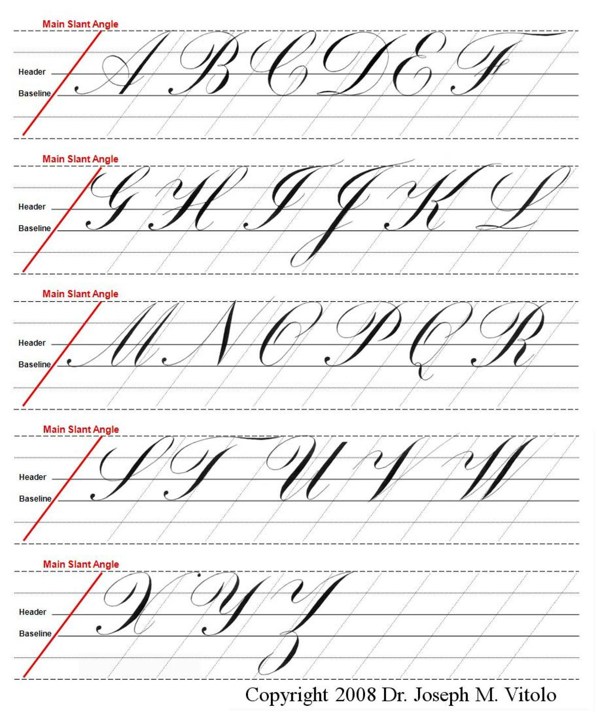 Copperplate Guide Letters