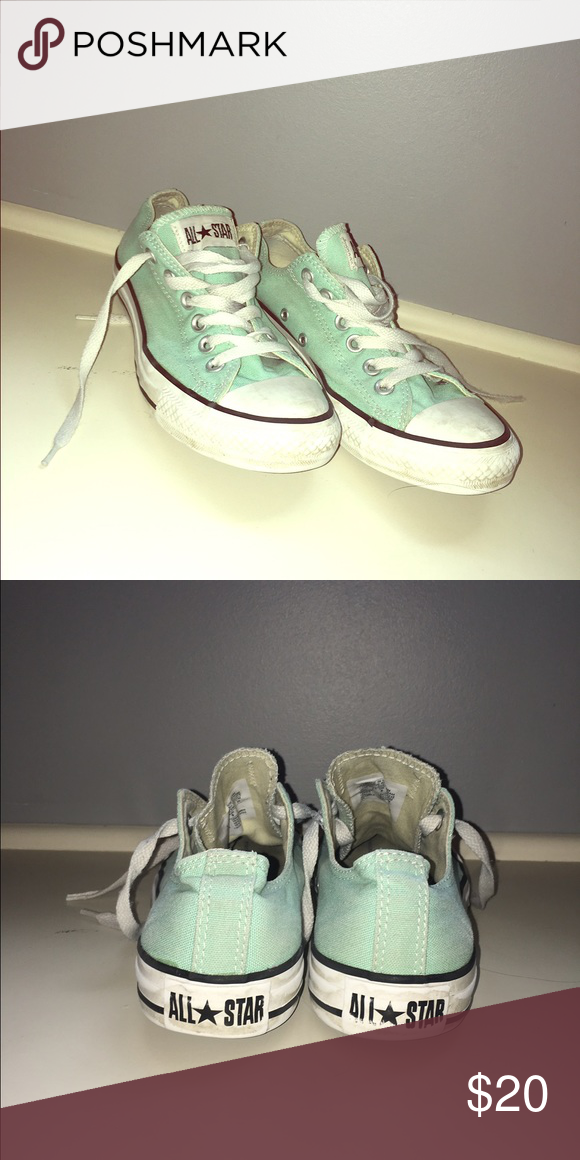 Converse Low top mint green converse barely worn Converse Shoes Sneakers