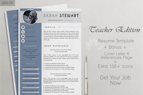Profesional Resume Templates CV Design #Resume #Job #Search