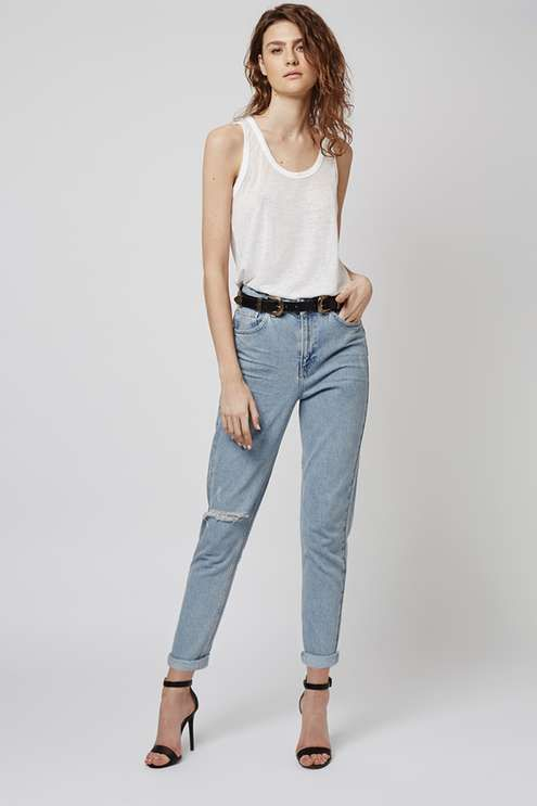 c6e7dba85ab MOTO Bleach Rip Mom Jeans | Pants/Shorts/Skirts | Ripped mom jeans ...