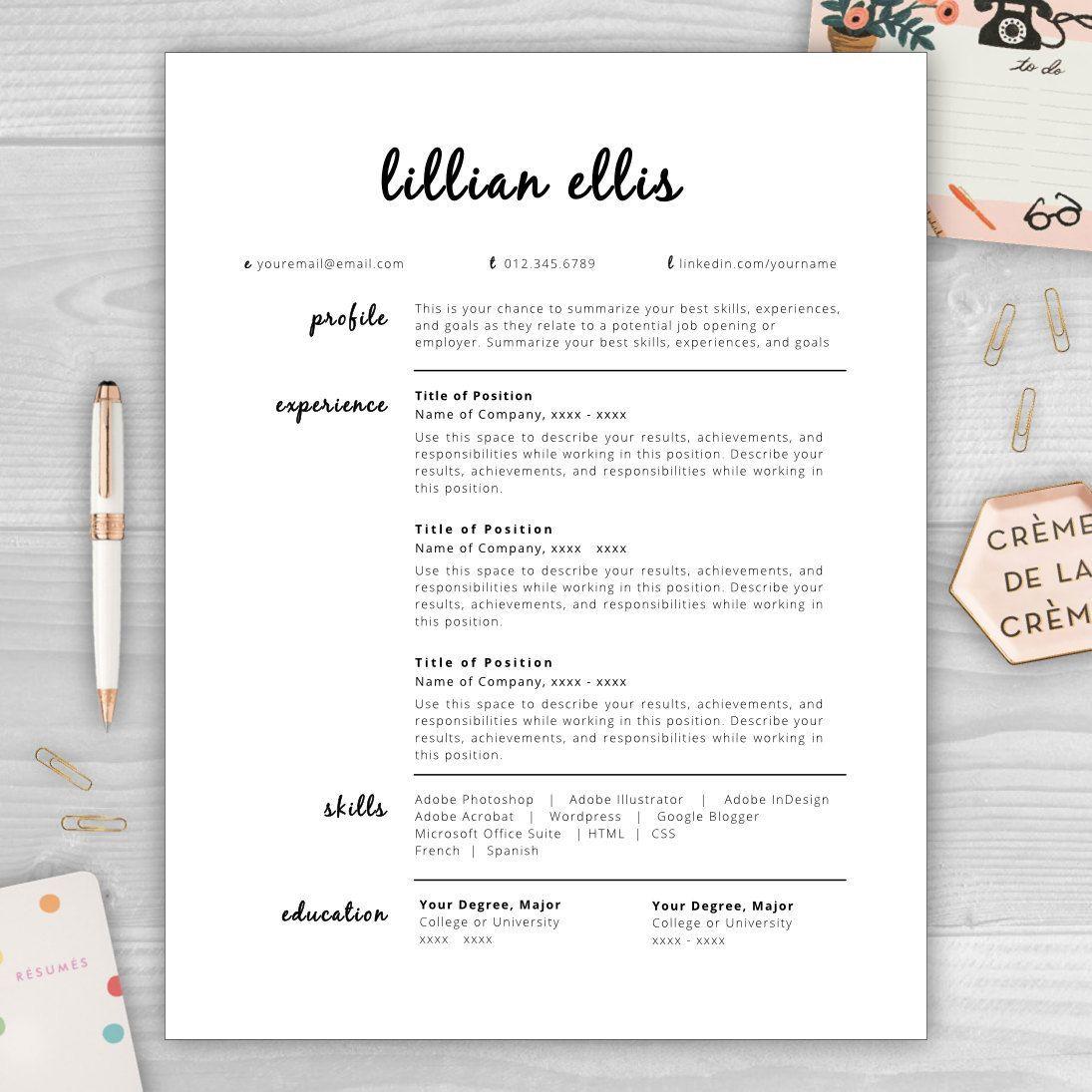 Modern Resume Template CV Template Resume Template Word