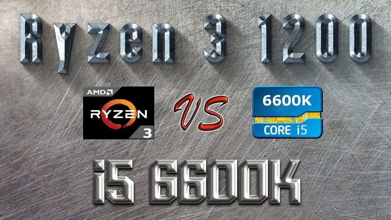 Ryzen 3 1200 vs i5 6600K BENCHMARK   Hitman Total War Tomb