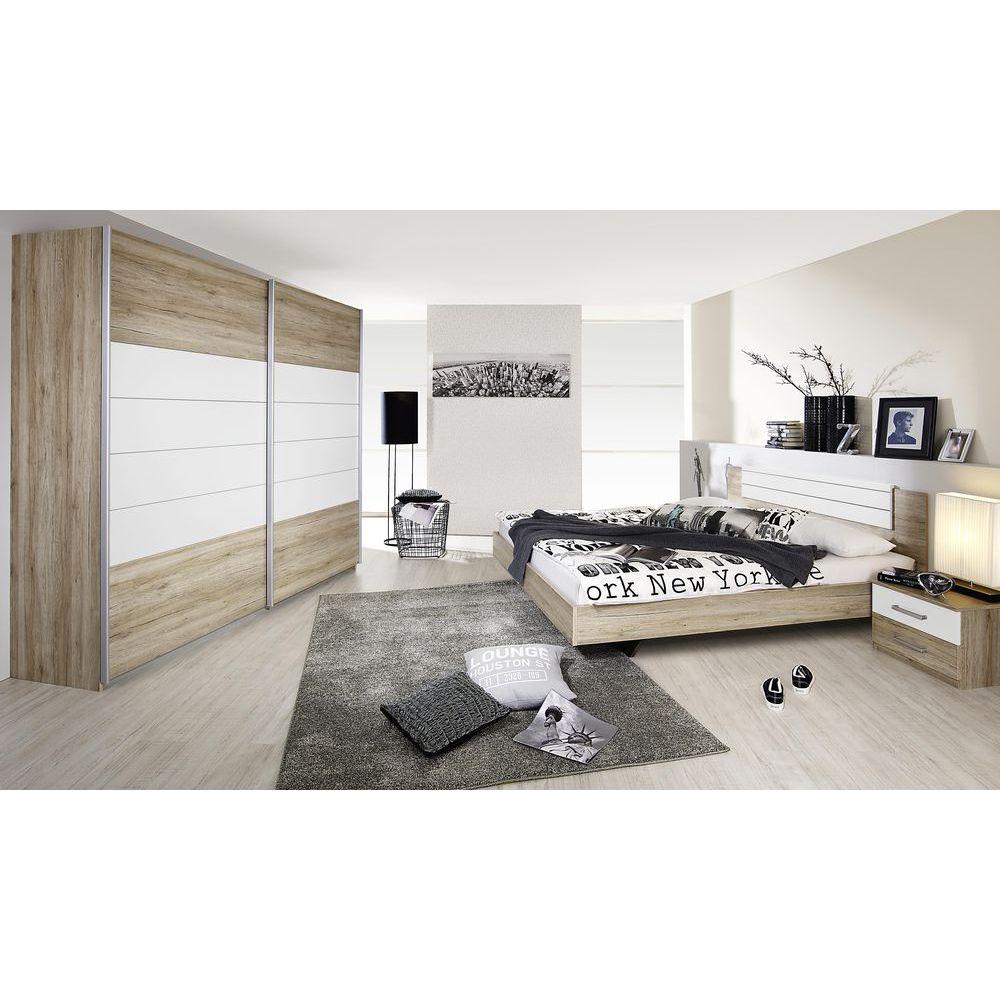 Schlafzimmer Set Barcelona 4tlg. 160x200 Eiche Sanremo Alpinweiß Jetzt bestellen unter: https://moebel.ladendirekt.de/schlafzimmer/komplett-schlafzimmer/?uid=7c8d4c06-22eb-5649-b3e9-890cc0368c88&utm_source=pinterest&utm_medium=pin&utm_campaign=boards #komplettschlafzimmer #günstig #barcelona #alpinweiß #schlafzimmer #rauch