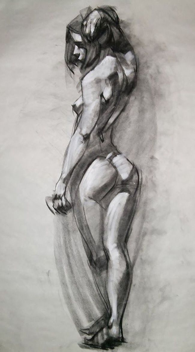 drawing models Nude female figure
