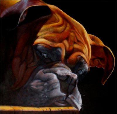 Le boxer d 39 emilien l 39 acrylique cr ation beaux arts peinture de pastelliste n 43 633 vue 3 - Boxer chien dessin ...