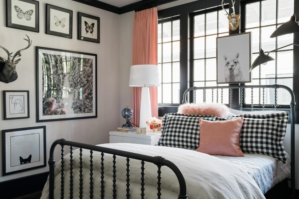 The stylish master bedroom at HGTV Urban