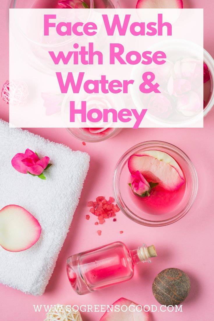 Photo of DIY facial cleanser with rose water and honey