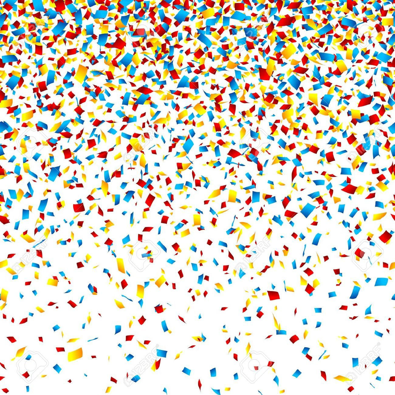Confetti Background Stock Vector Illustration And Royalty