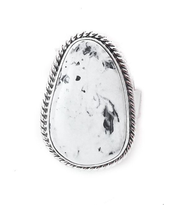 Navajo Silver Men's White Buffalo Ring Size 11.5, Native American Jewelry,Size 11.5 Ring,Vintage Indian Jewelry, Buffalo Ring, Free shipping