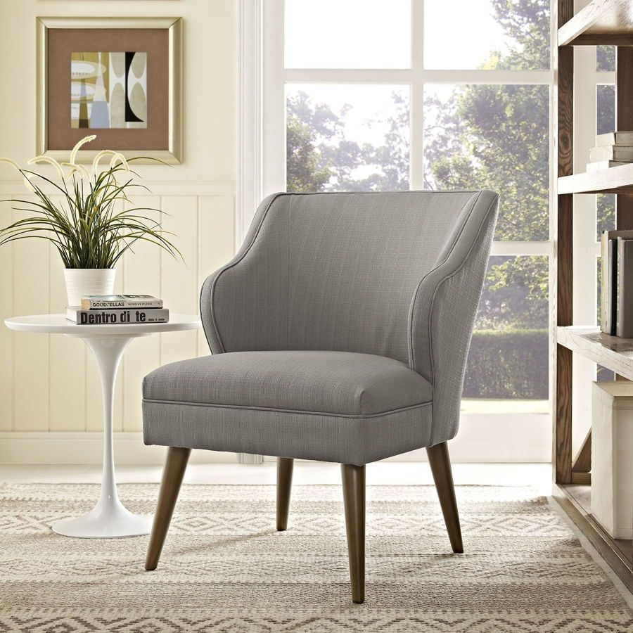 Swell Contemporary Granite Fabric Solid Wood Armchair ...