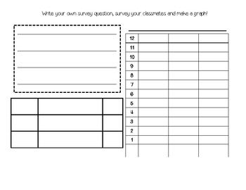 FREE Create a survey and make a graph template- Common Core