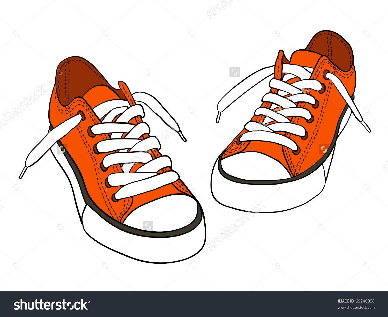 Cartoon Sneakers Clip Art 64 Sapatos Desenho