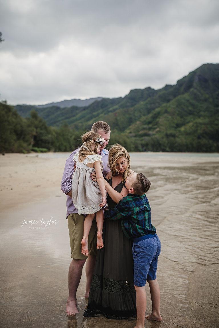 Comstock family kailua beach oahu hawaii family