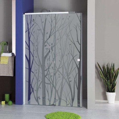 Sticker paroi de douche for t de branches recette for Film vitre salle de bain