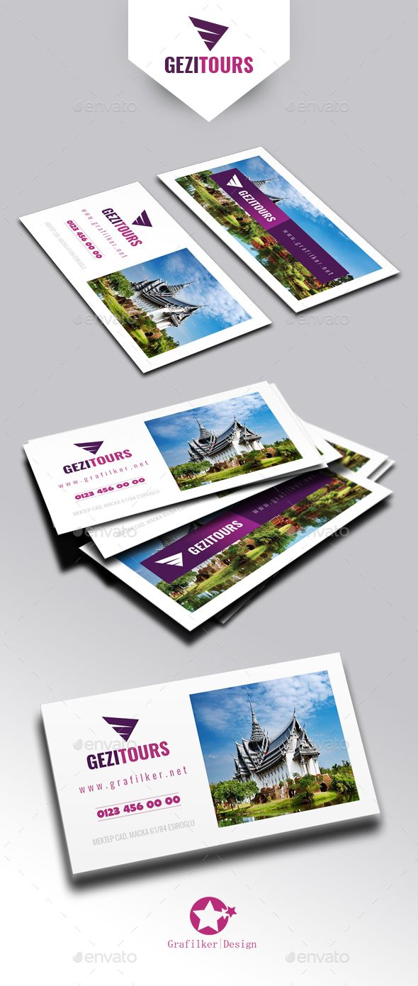Travel Tours Business Card Templates Business Card Template Photoshop Corporate Business Card Design Business Card Template Design