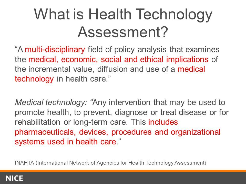 Health Technology Assessment And Evidence Informed Health Technology What Is Health Health