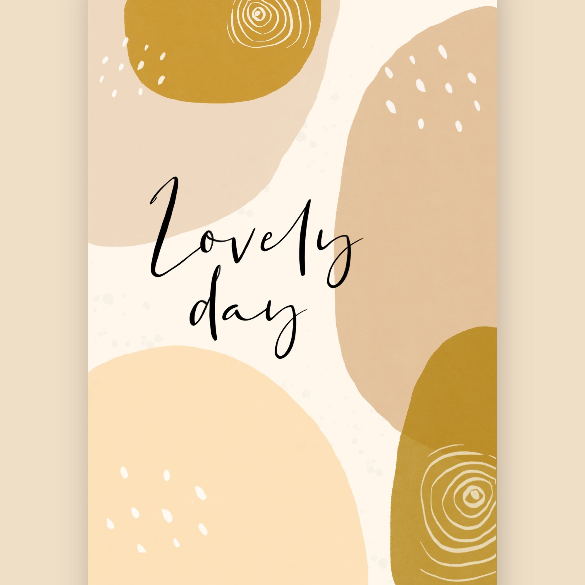 Lovely day design iPhone wallpaper ETSY $21   Iphone wallpaper ...