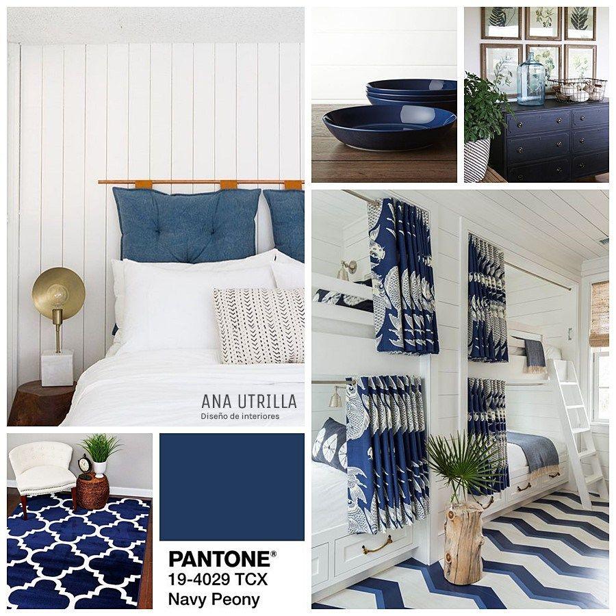 Navy peony color pantone 2017 2018 para oto o e invierno for Tendencias en decoracion de interiores