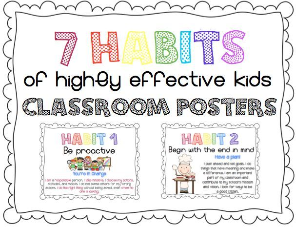 7 Habits Of Highly Effective Kids Leader In Me Posters In Kid