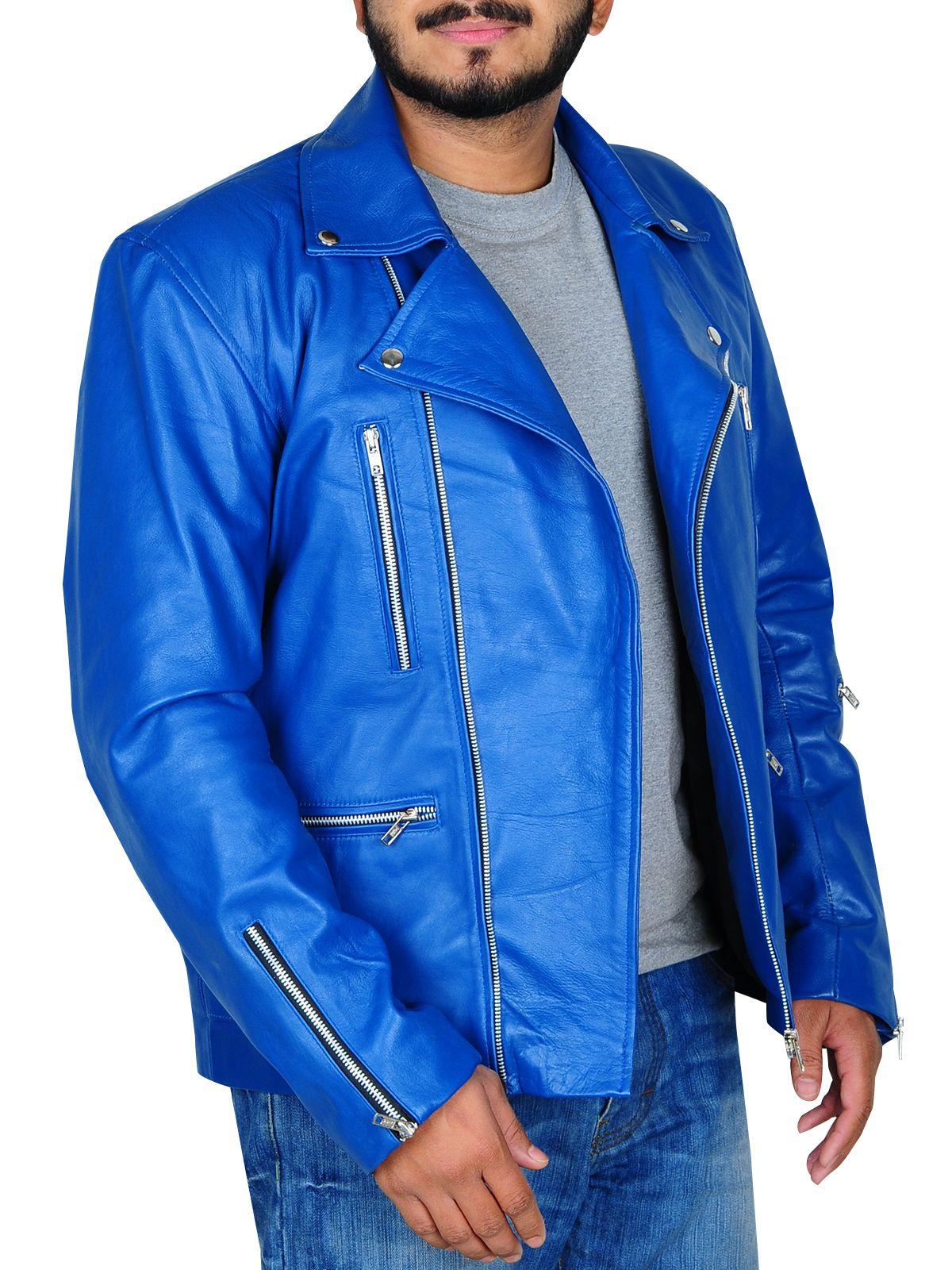 038450e2e Blue Brando Leather Jacket | BLUE BRANDO LEATHER JACKET | Jackets ...
