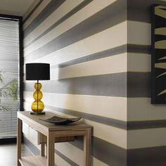 How To Hang Wallpaper Horizontally Striped Walls Home Decor Home