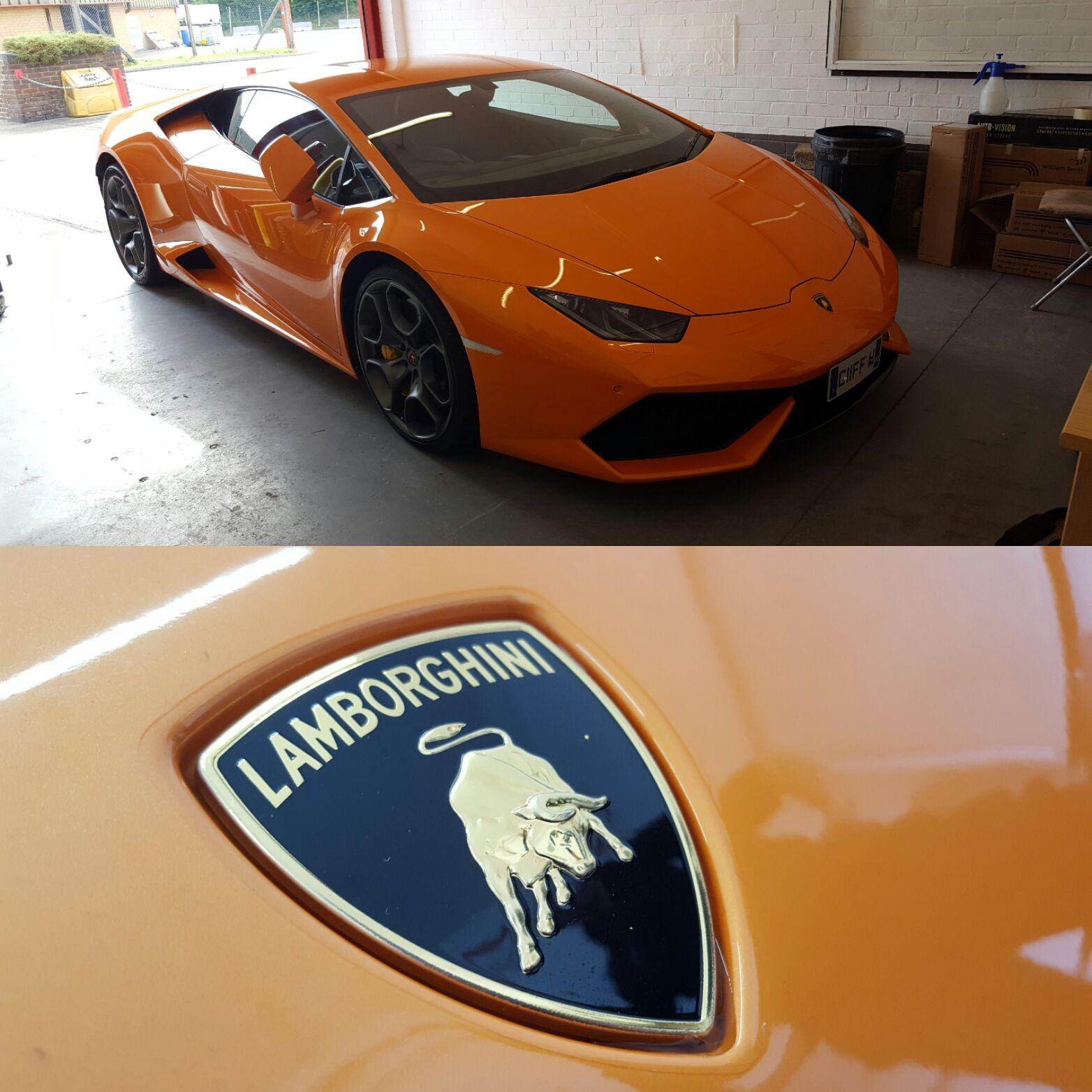 A Beautiful Lamborghini Huracan In Sunrise Orange Fitted With A