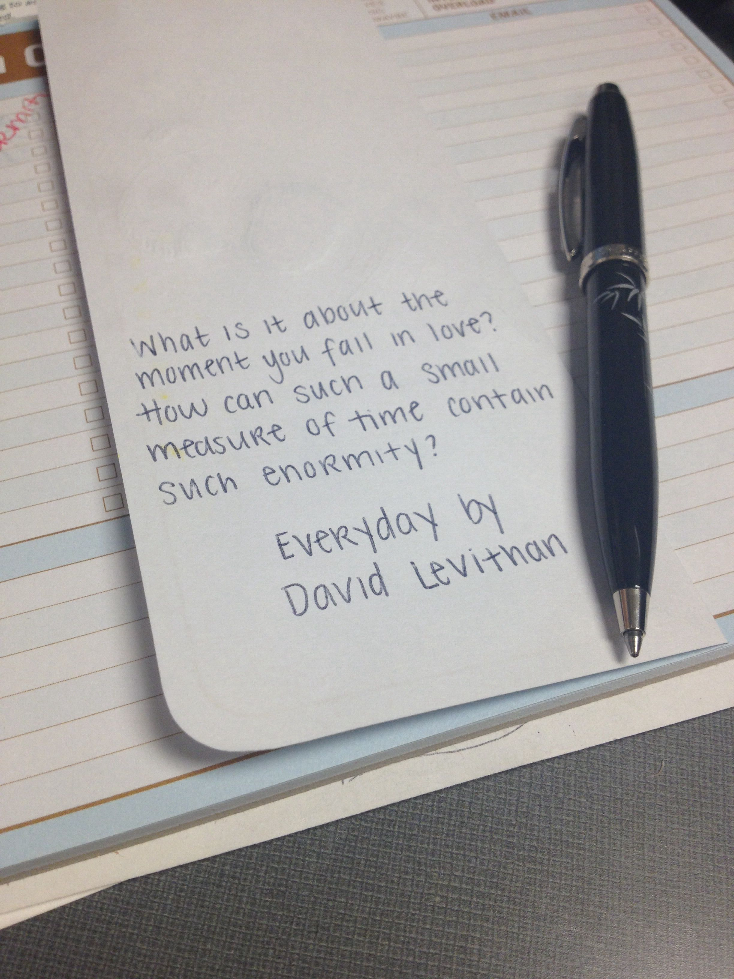 David levithan quote from everyday book qoutes quotes