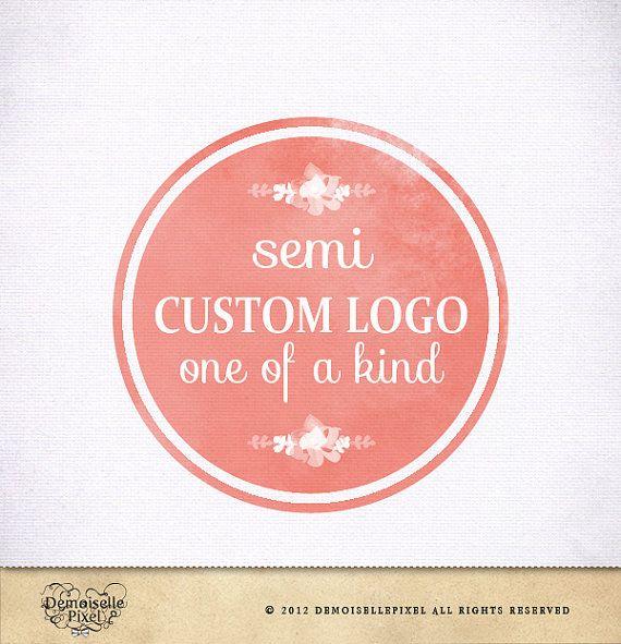 Semi Custom Logo Design Hand Drawn Ooak For Photographer