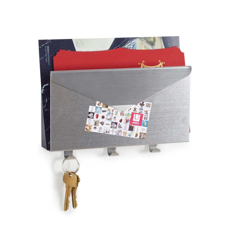 Umbra Organizador Lettro Organizador de pared Lettro de Umbra. Simpático modelo con forma de sobre. Fabricado en aluminio. Cuenta con un apartado para...