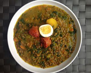 La Cocina De Mi Pueblo Receta 24 Lentejas Con Espinacas Y Chorizo Espinacas Lentejas Comida étnica