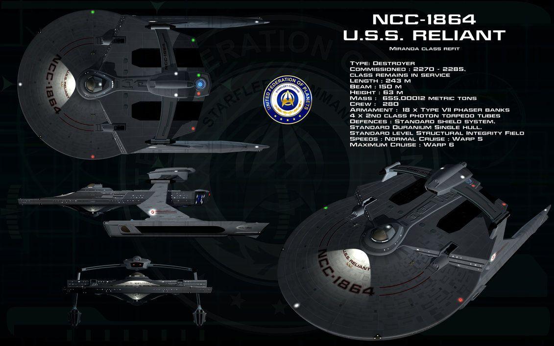 Miranda class Refit ortho - USS Reliant by unusualsuspex on DeviantArt