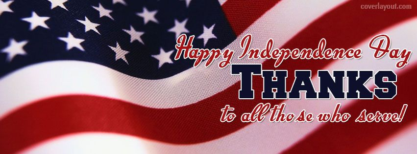 American Flag Happy Independence Day Facebook Cover CoverLayout.com