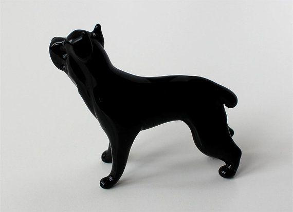 Art Blown Glass Murano Figurine Glass Dog Irish Wolfhound