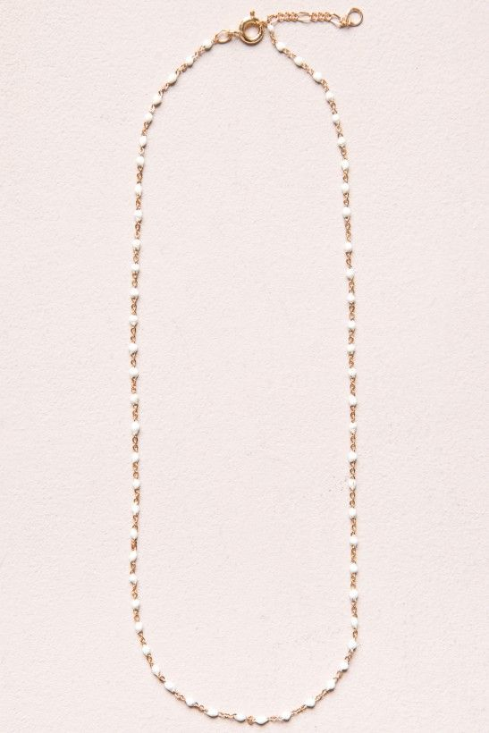 93279685ef7 White Bead and Gold Necklace - Jewelry - Accessories | jewlery ...