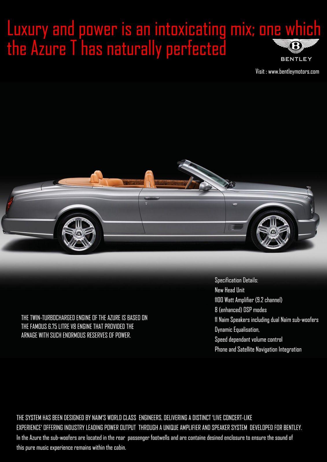 Bentley Car Ads Mayur Savla Print Ad For Bentley Car Ads