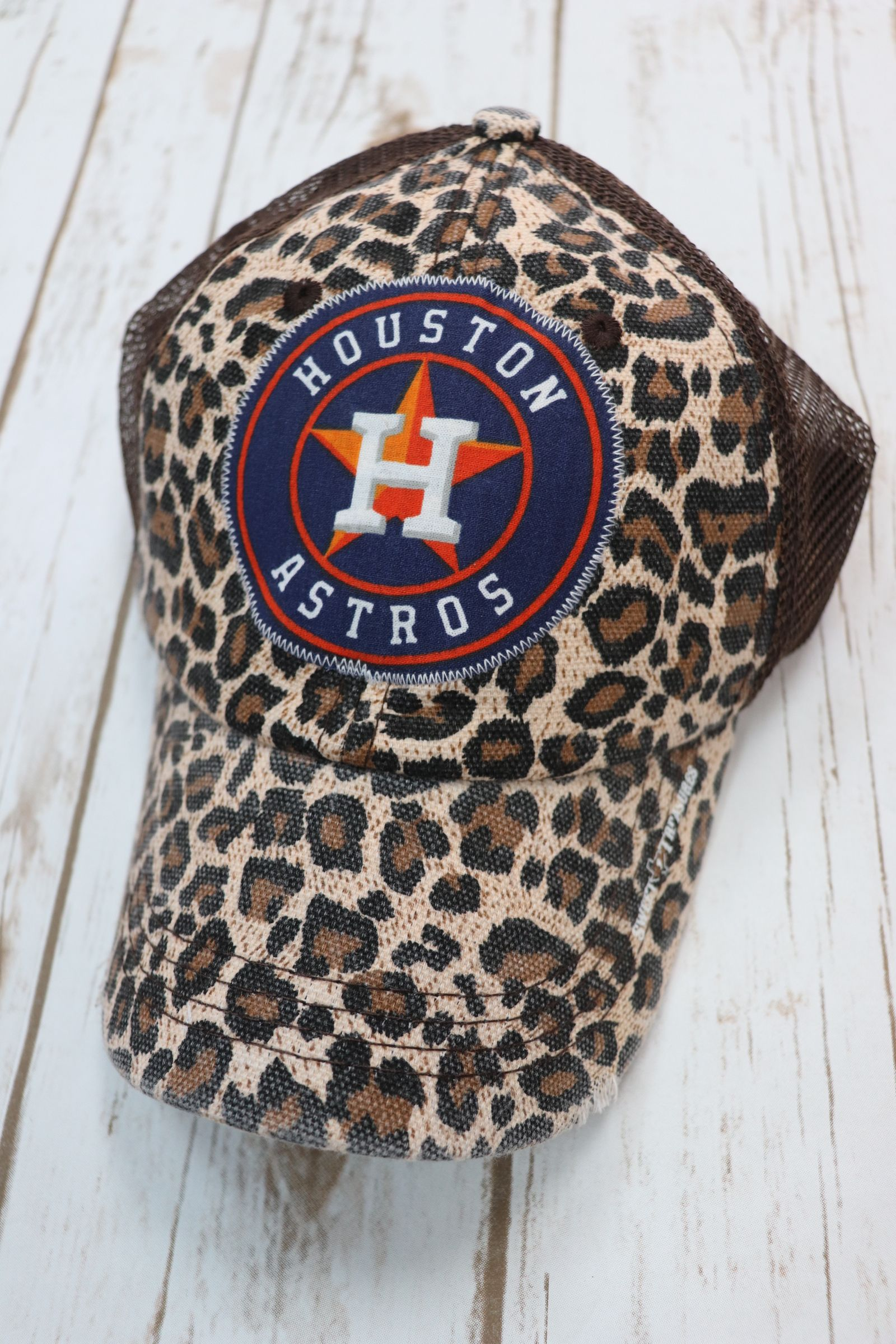 4e1ce68add5 Leopard Houston Astros trucker hat