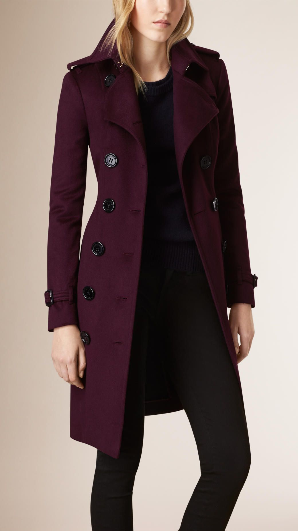 3b90351bf52 Sandringham Fit Cashmere Trench Coat Plum